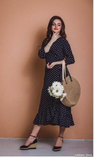 горошек платье классика