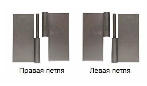 левая и правая петля для двери