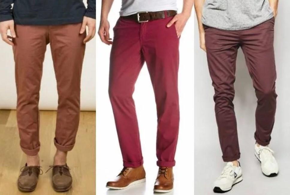 Модные мужские брюки чиносы.