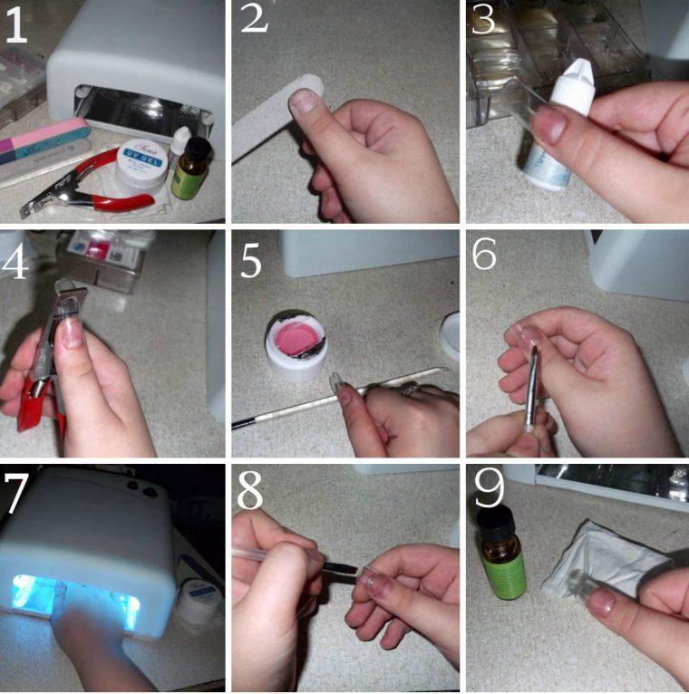 наращивании гелевых ногтей - технология