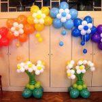 варианты декора возможны на основе гелиевых шаров