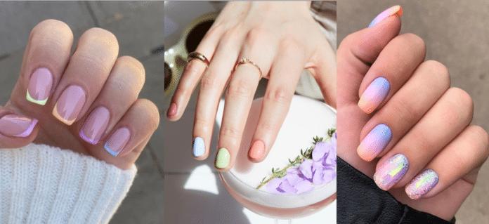 модный пастельный маникюр на короткие ногти фото